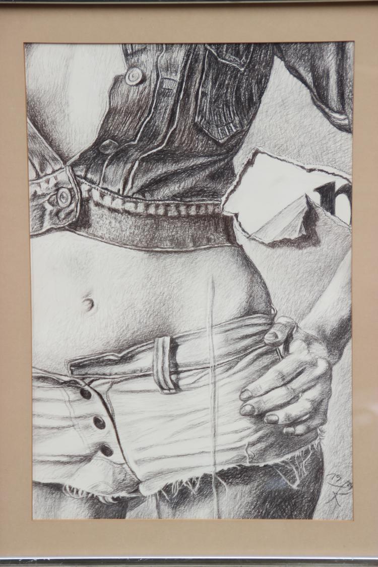 Fritz KÖTHE (1916-2005) Le ventre - 1974