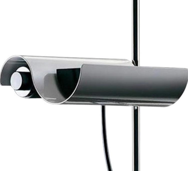 Vico MAGISTRETTI (1920-2006) - Edition O LUCE - années 70 Lampadaire modèle DIM en métal laqué blanc sur base circulaire lestée