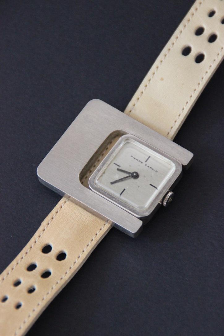 Pierre CARDIN Montre bracelet unisexe en acier avec bracelet en cuir crème