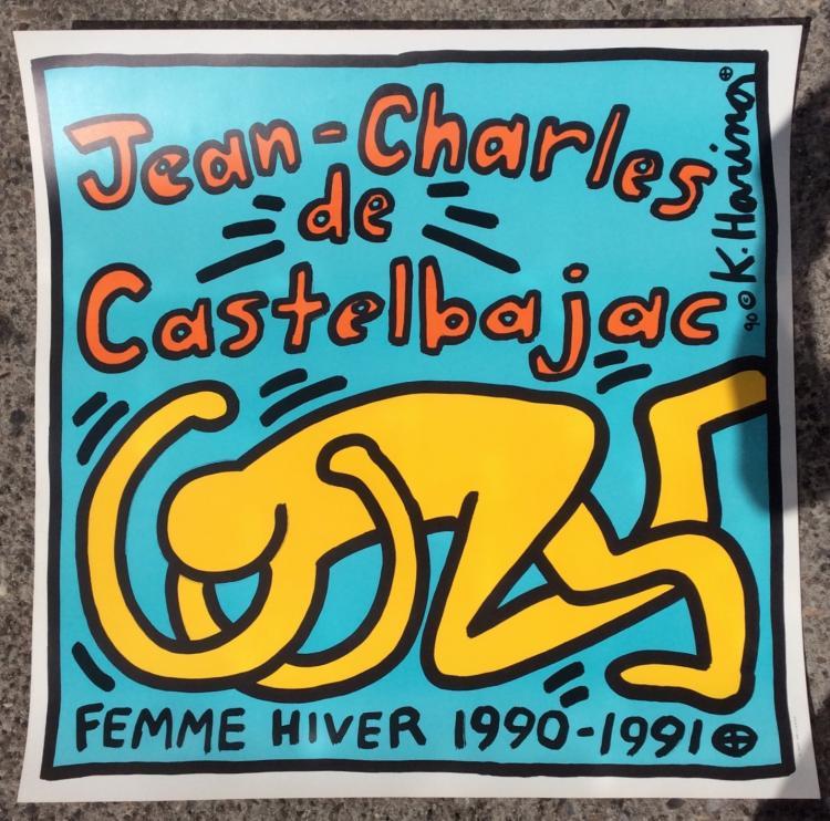 Keith HARING (1958-1990) - 1950 Une affiche serigraphiee, non encadrée pour Jean-Charles de Castelbajac