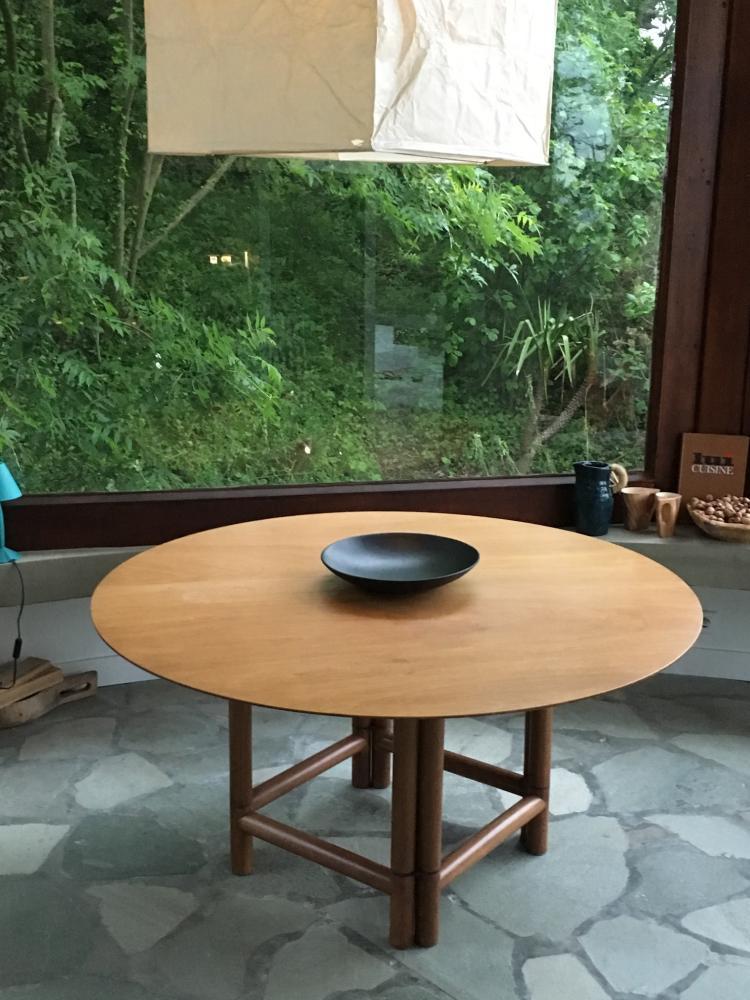Pierluigi GHIANDA (1926-2015) Table à système modèle GABBIANO