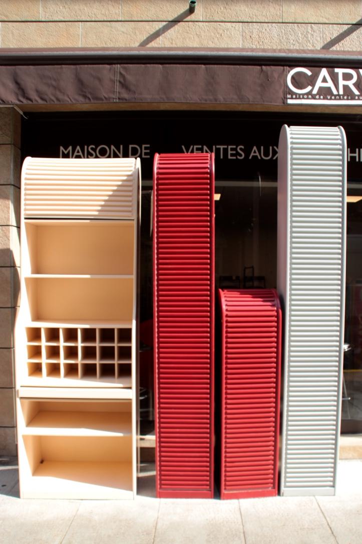 Aldo Van Den NIEUWELAAR (né en 1944)  Ensemble de cinq meubles de rangement de bureau modèle « A'dammer », édition Pastoe.