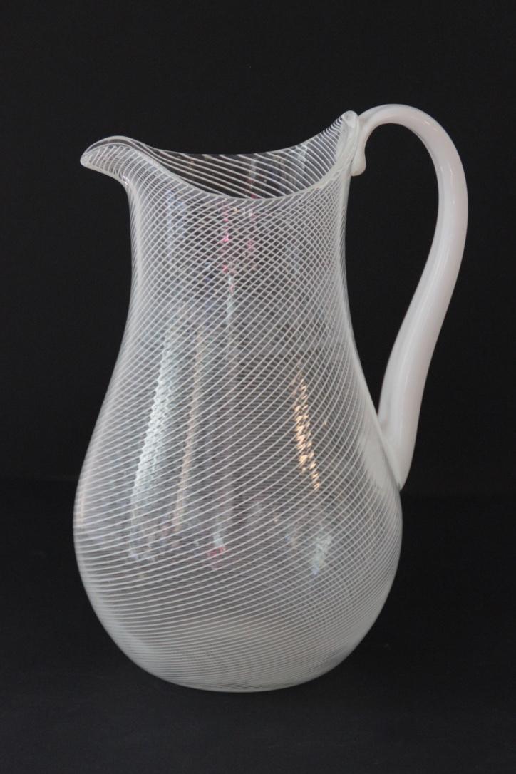 LA MURINA Pichet en verre strié