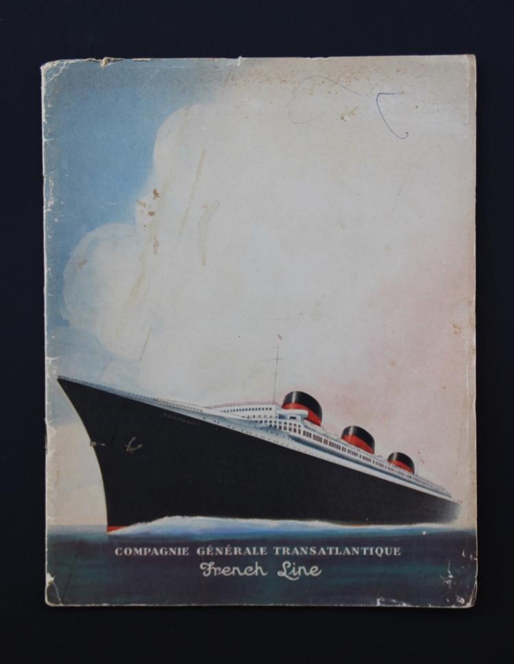Normandie, Compagnie générale transatlantique  Illustrations en couleur de Paul IRIBE (1883-1935)