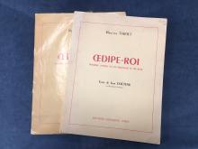 Maurice THIRIET, Oedipe roi  Reduction pour piano, Ed.