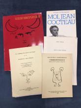 Lot de cinq ouvrages sur le theme de Jean COCTEAU    Jean COCTEAU et Darius ,  Le Cinema de Jean COCTEAU ,  Salut a Jean COCTEAU ,  Moi, Jean COCTEAU ,  Ceremonial espagnol de Jean COCTEAU .