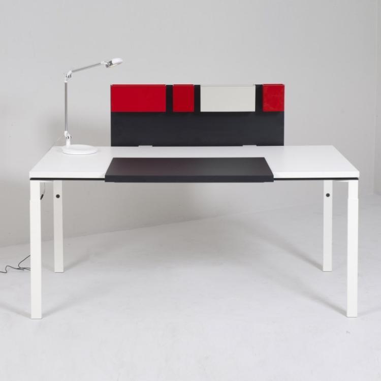 anonyme bureau serie wa en bois metal et plastique blanc. Black Bedroom Furniture Sets. Home Design Ideas