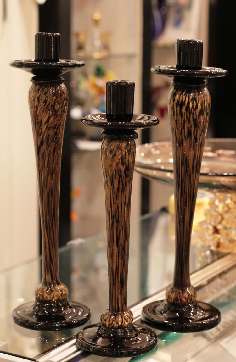 Vintage Murano Candleholders