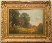 Joseph Rodefer DeCamp (American, 1858-1923). Spring Landscape.