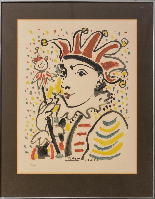 """Pablo Picasso """"Carnival"""" Jester Print."""