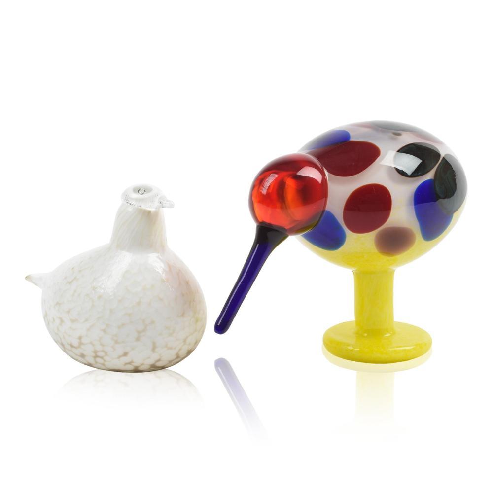 Two Iittala Glass Birds.