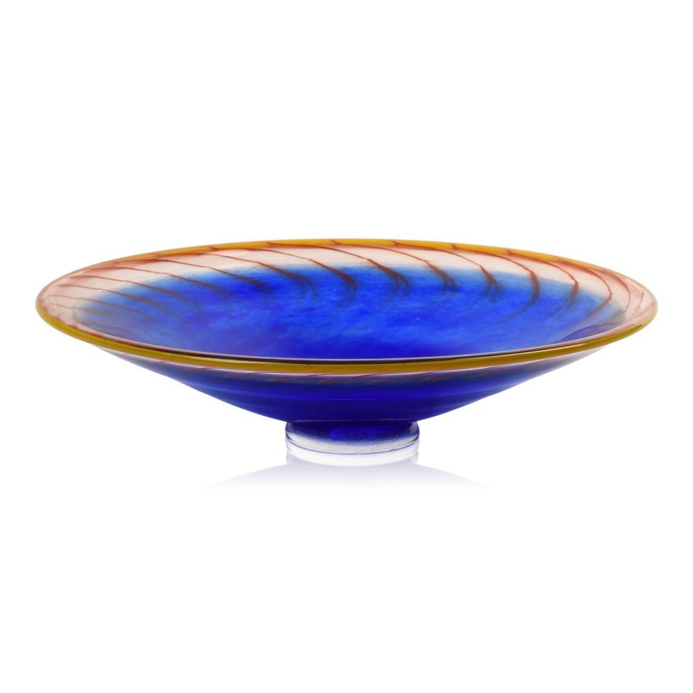 Kosta Boda Blue Glass Center Bowl.