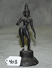 Bronze standing female figure. H:6.5
