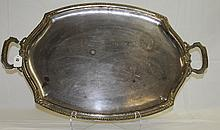 Silver plate tray. L:28
