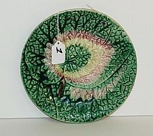 Antique Majolica plate. D:8.5