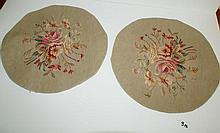 Pair antique Aubusson tapestry panels. D:17
