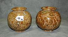 Pair marble urns. H:5. 5