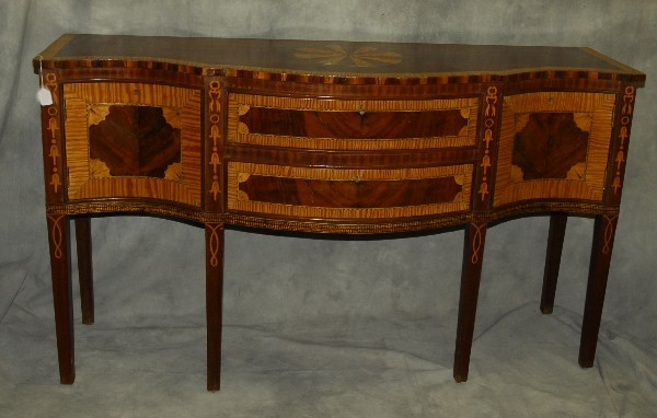 Federal style inlaid mahogany sideboard h 36 5 w for Furniture federal way