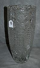 Large Antique American brilliant cut glass vase. H:15