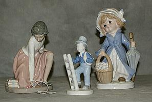 Three Porcelain figural groups, One KPM , one Barvaria,