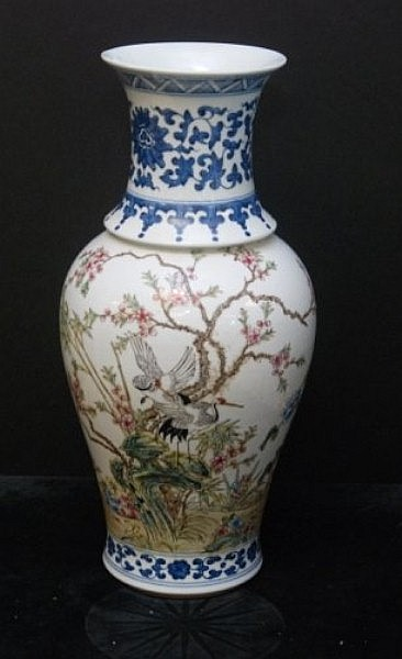 Chinese 19th C Chinese porcelain vase