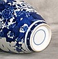 19th c. Chinese blue and white porcelain covered jar