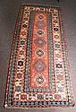 Antique Kazak long rug. 4'5 X 10'3