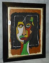 Oswaldo Guayasamin (Ecuadorian 1919 - 1999) oil on