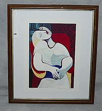 Picasso lithograph number 42/500 from the collection of