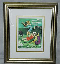 Picasso lithograph artist proof of 3 woman at the