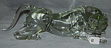 Murano glass panther signed pulo Siguonitti, for