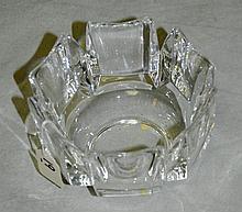 Signed Orrefors crystal bowl. H:3. 75