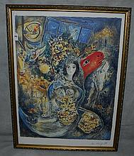 Marc Chagall Lithograph numbered 138/500 and has a