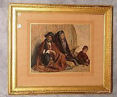 "17th C. Painting ""Peasant Family"" Hubert van Ravesteyn"