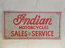 Indian Motorcycle Tin Advertising Sign