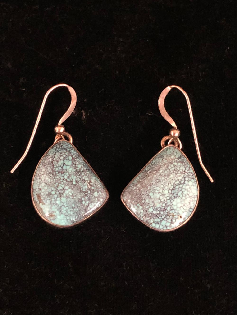 Royston turquoise sterling silver earrings