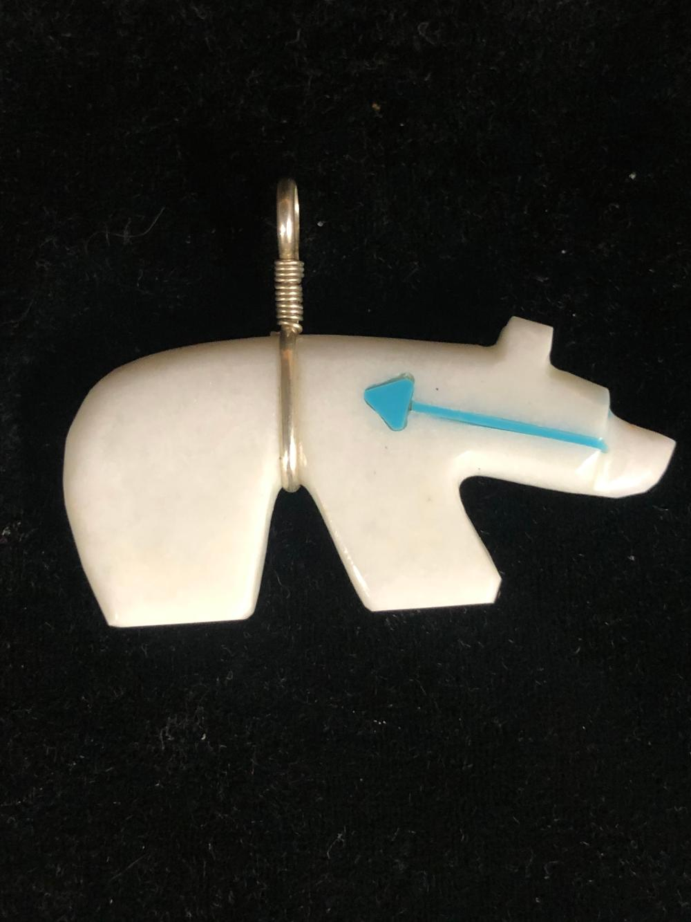 White bear fetish pendant