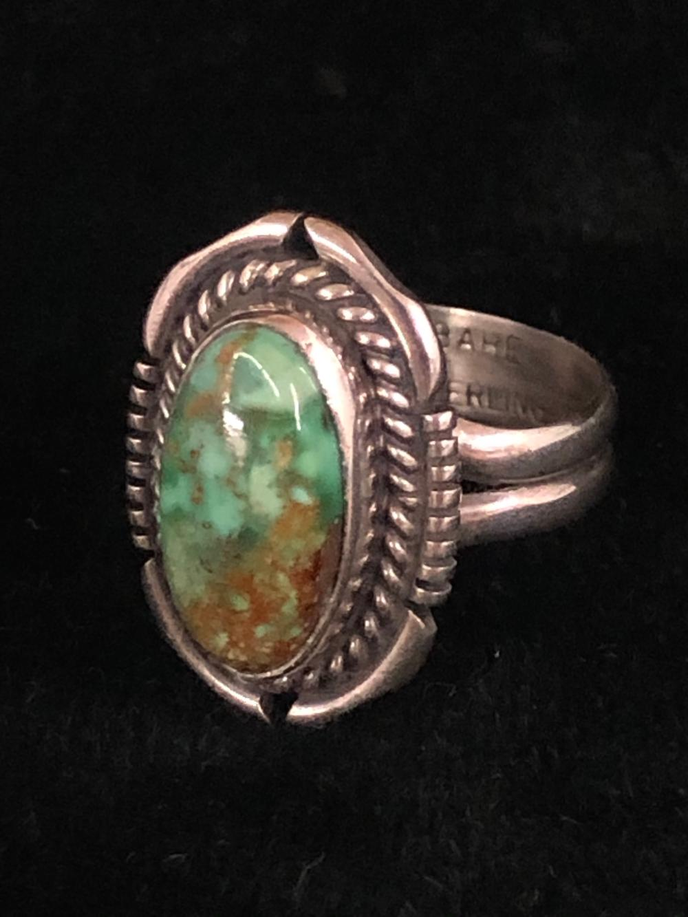 Kingman turquoise sterling silver ring