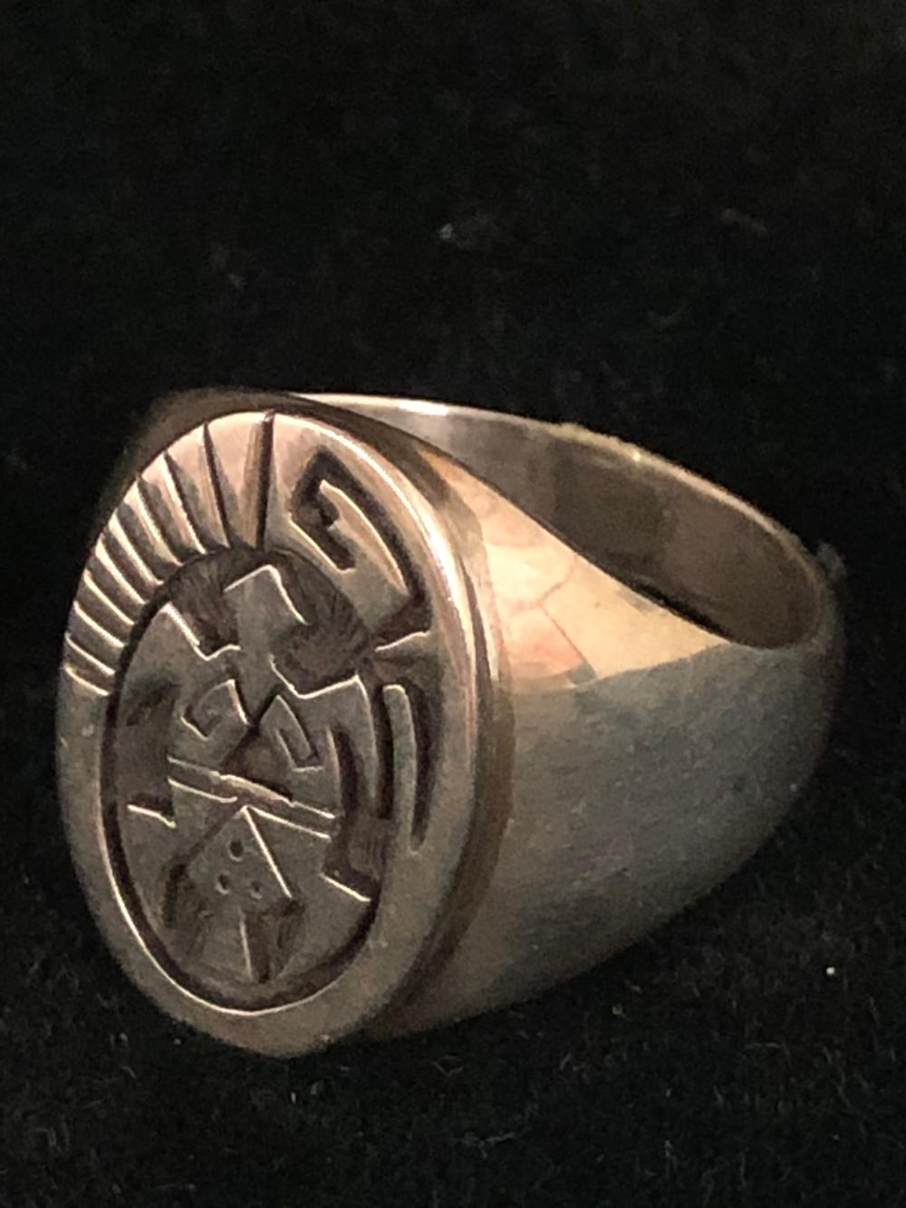 Turtle shadow box design sterling silver ring
