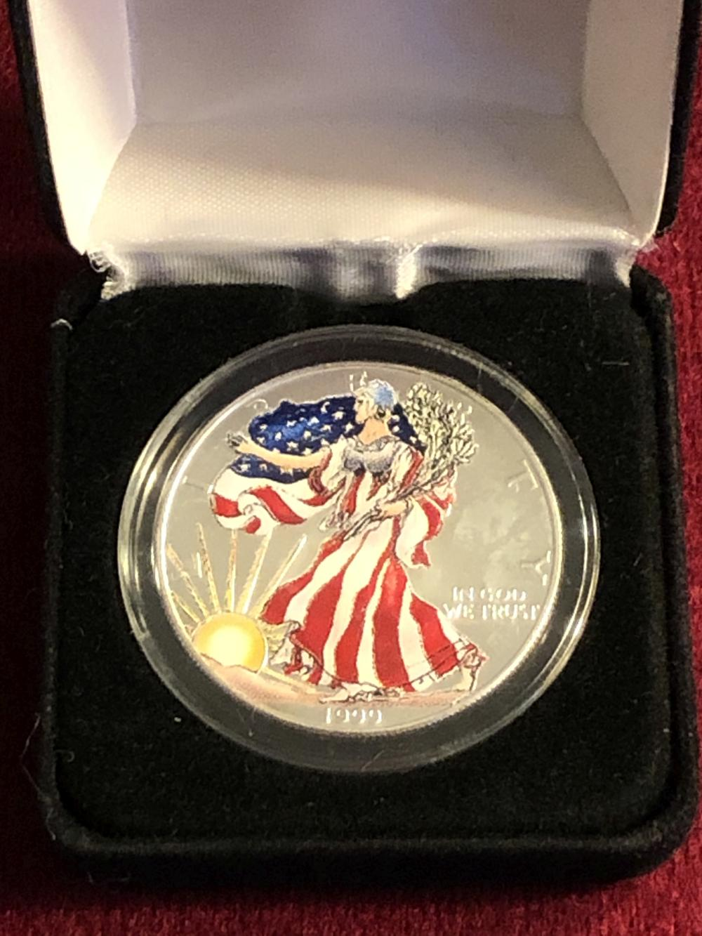1999 last millennium silver dollar coin