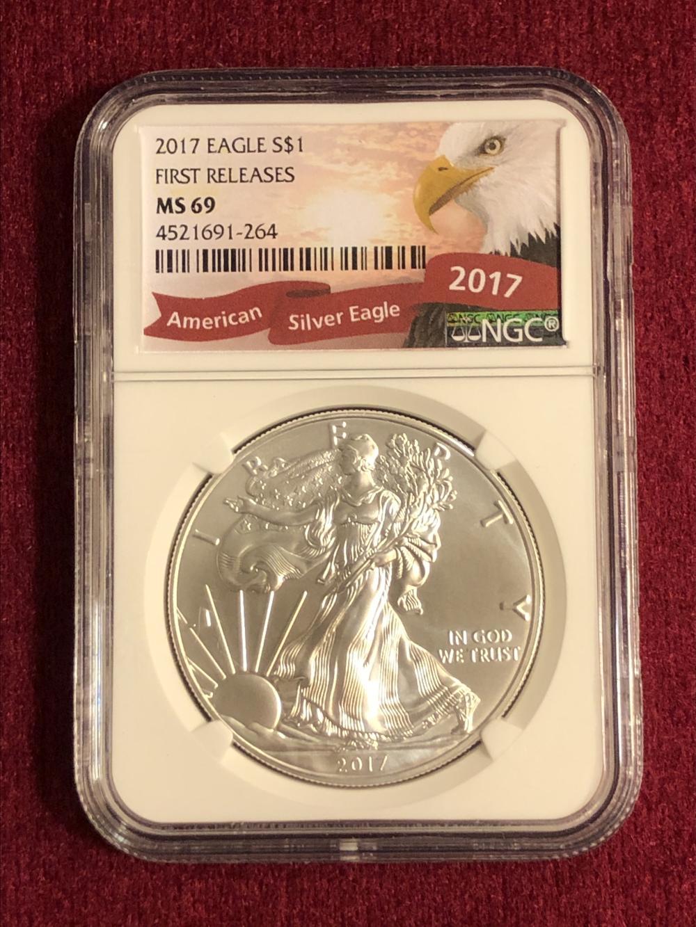 2017 1 oz. fine silver eagle coin