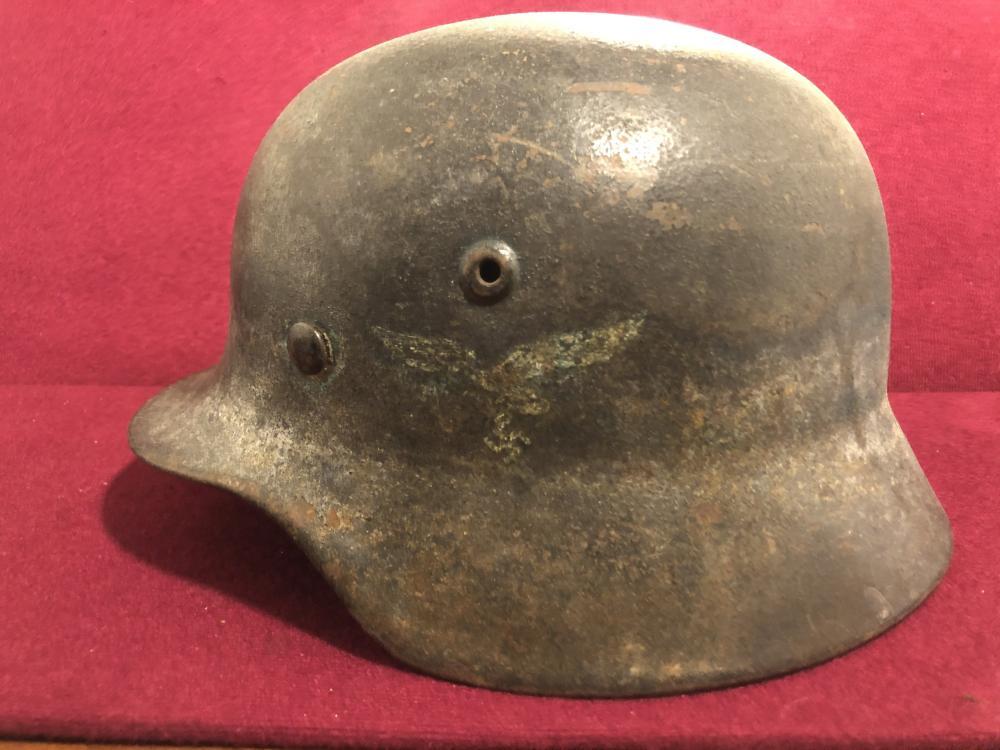 WWII German Nazi combat helmet