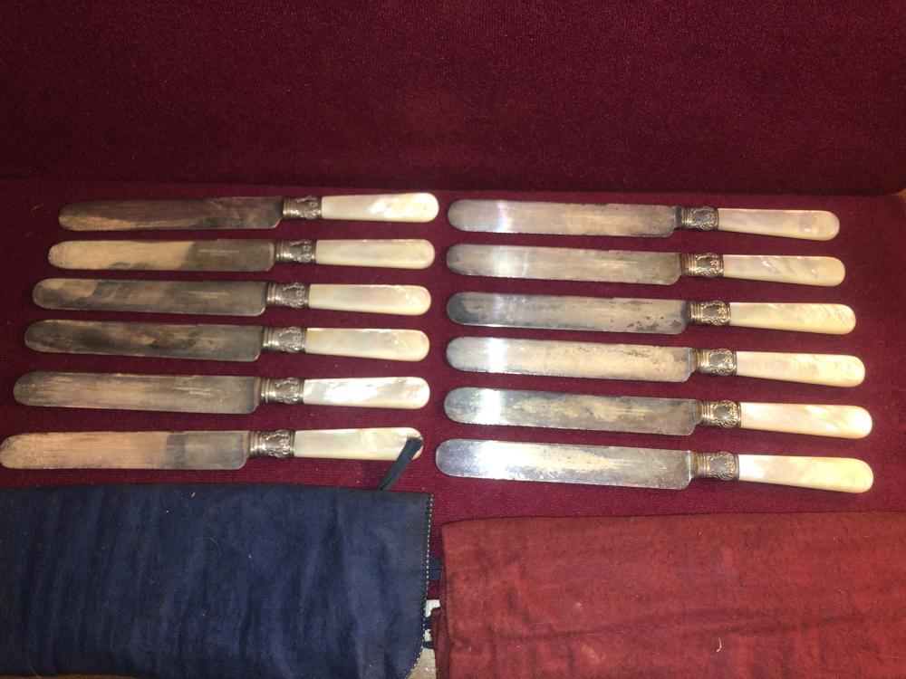 Meriden & Simons mother of pearl knives