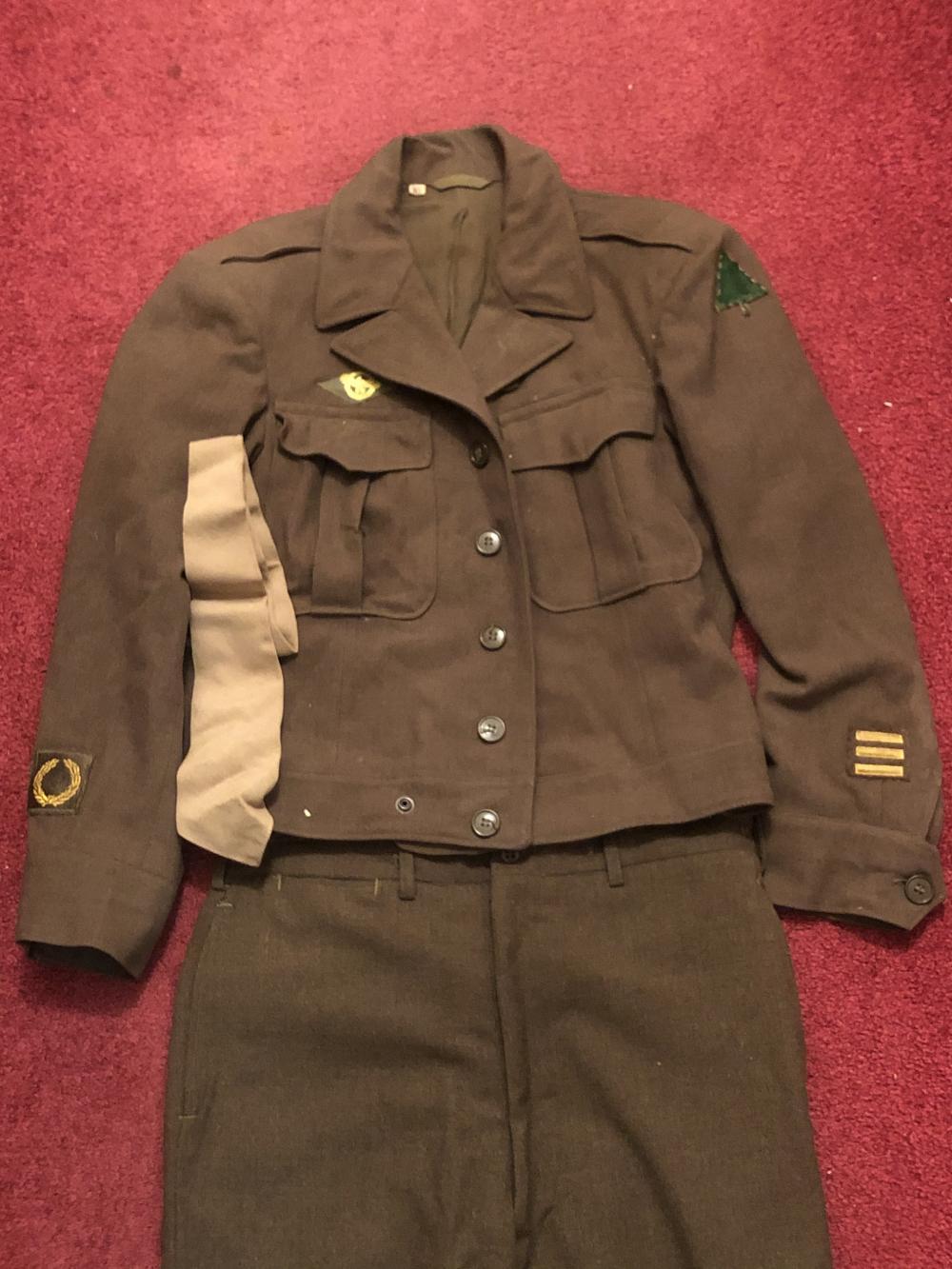 WWII U.S. army 91st infantry uniform