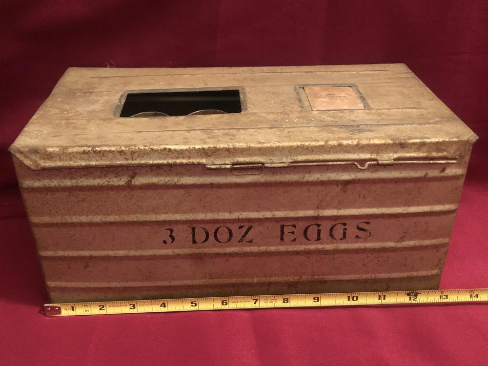 Vintage metal egg box