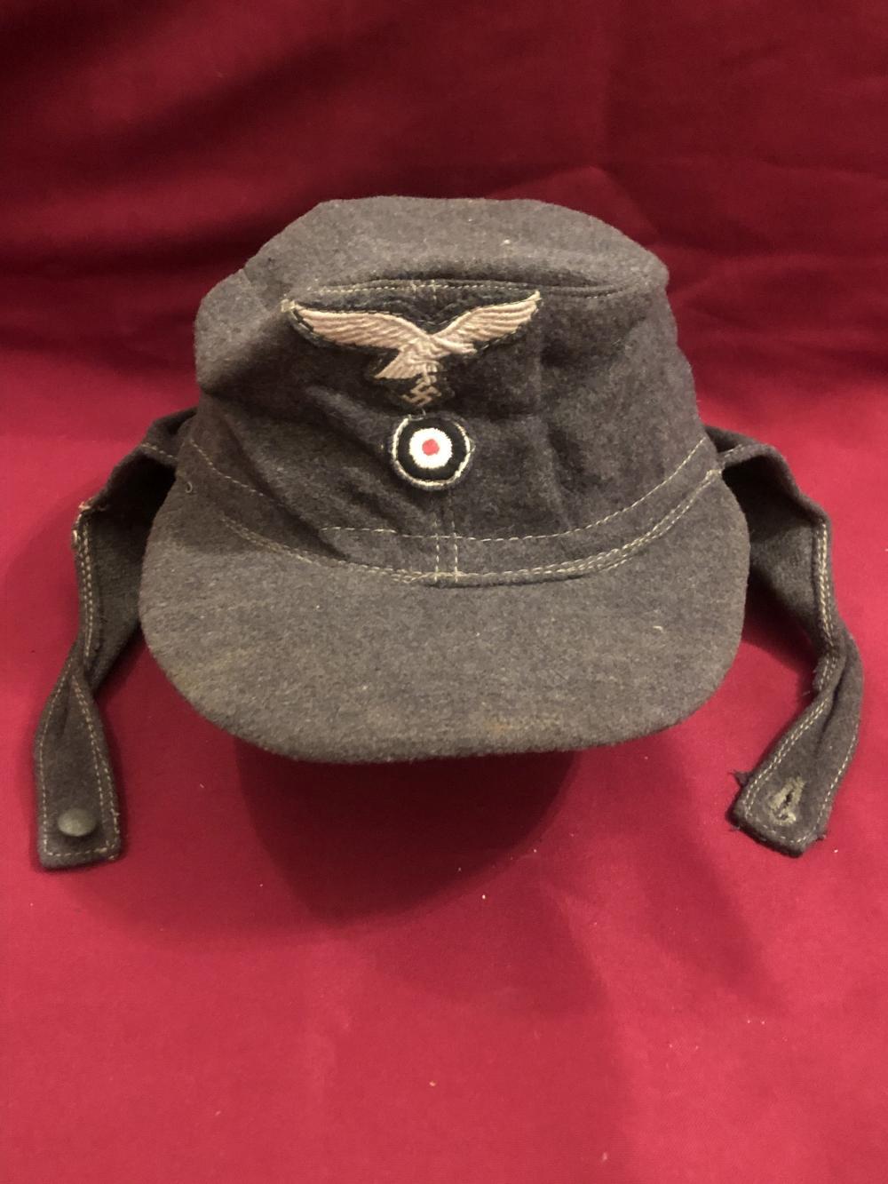 WWII German Nazi winter field cap