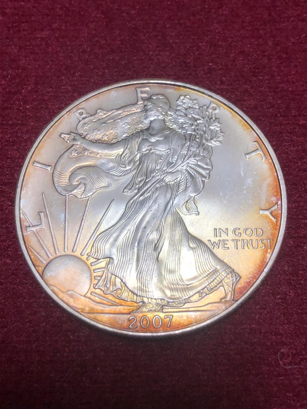 2007 American eagle 1 oz silver dollar coin
