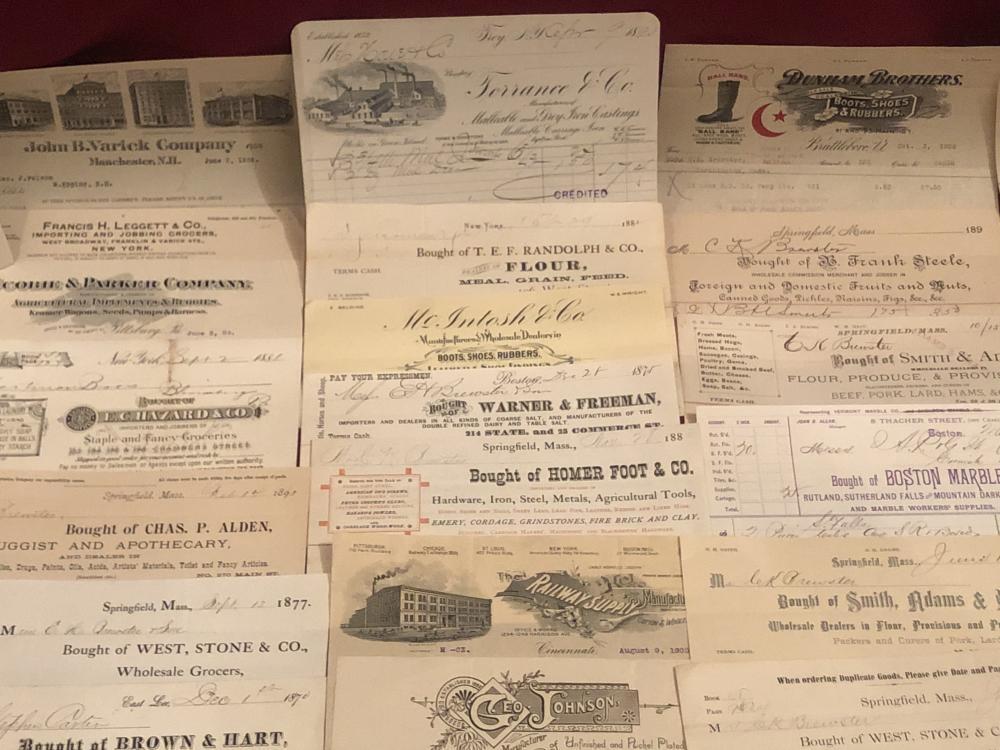 Antique ephemera - letterhead & receipts