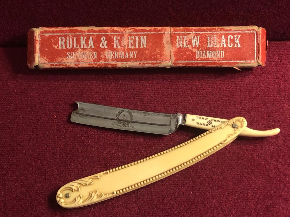Antique John Prince straight razor