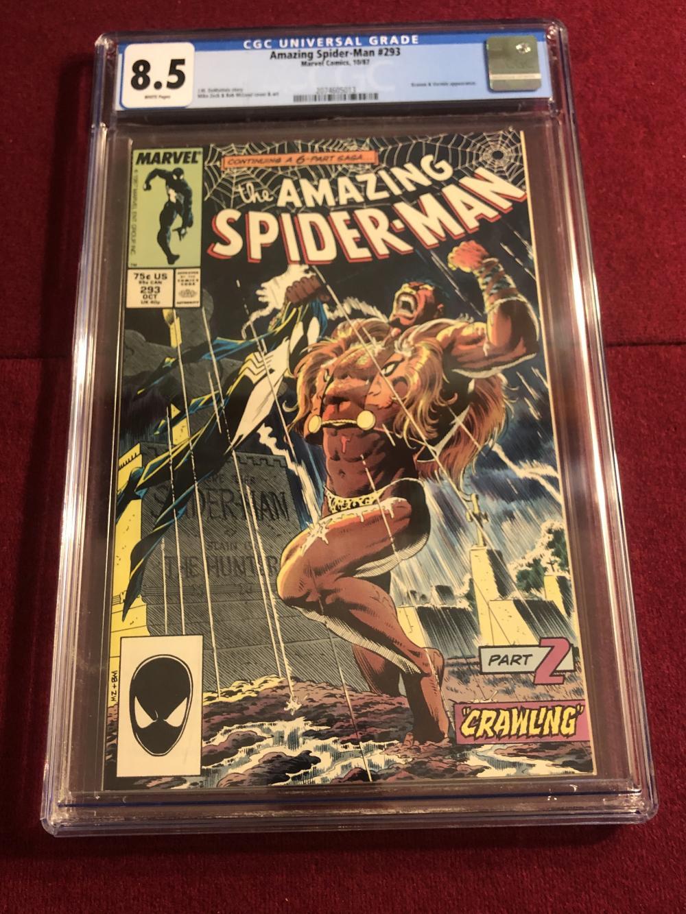 Amazing Spider-man #293 Marvel comic - graded